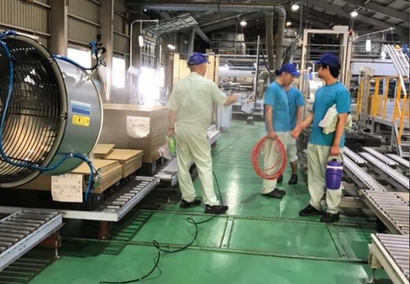 段ボール製造工場